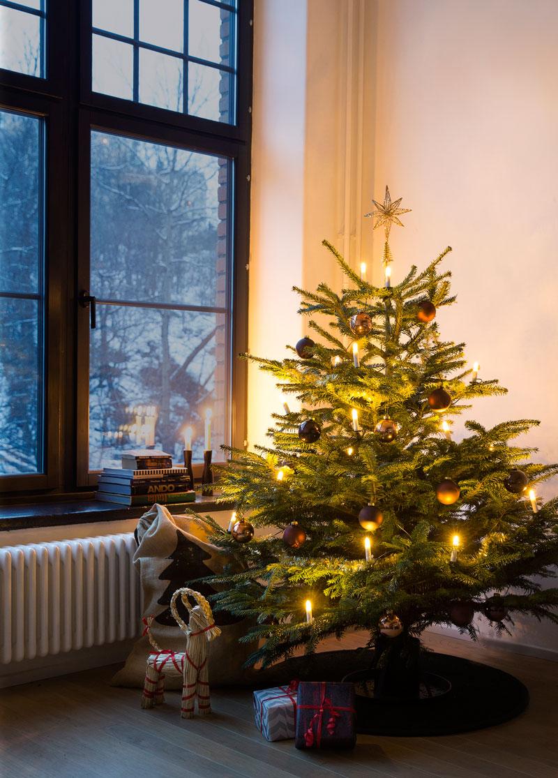 julgransbelysning till liten gran