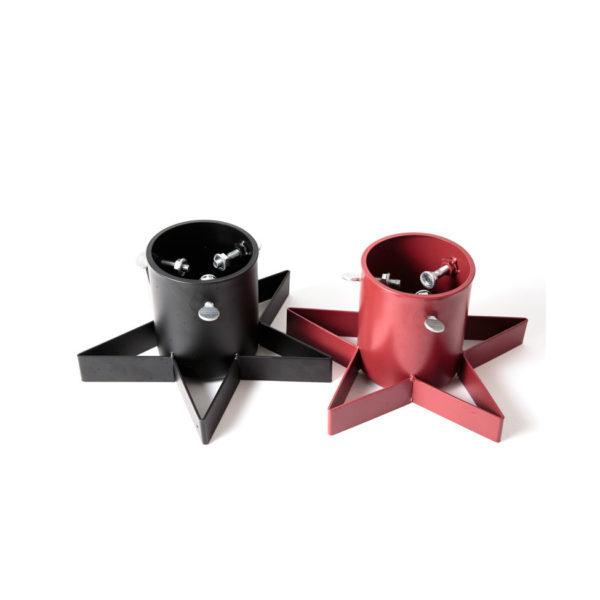 Minigrans fot. Julgransfot för minigranar i två olika färger