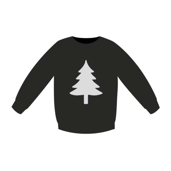 Nice Christmas Sweater - en snygg fuljultröja grafit